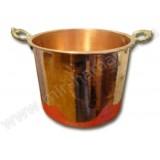 Чаша медная диаметр 29 см, ЕМ-5, 12 л, высота  21 см, с ручками