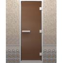 Дверь для хамама, стекло бронзовое, матовое