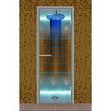"""Дверь для турецкой бани 690*1890 мм, серия """"Эконом"""", без порога, стекло прозрачное"""