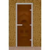 """Дверь для турецкой бани 690*1890 мм, серия """"Стандарт"""", без порога, стекло бронза матовое"""