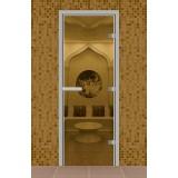 """Дверь для турецкой бани 690*1890 мм, серия """"Стандарт"""", без порога, стекло прозрачное"""
