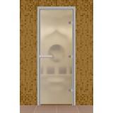 """Дверь для турецкой бани 690*1890 мм, серия """"Стандарт"""", без порога, стекло прозрачное матовое"""