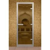 Дверь для хамама 690*1890 мм, стекло бронзовое