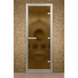 Дверь для хамама 690*1890 мм, стекло бронзовое матовое