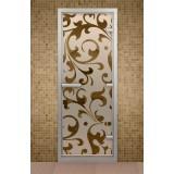 """Дверь для хамама 690*1890 мм """"Версаль"""", стекло бронзовое"""