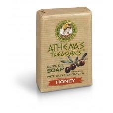 Натуральное оливковое мыло Мед, 100 г
