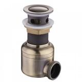 Сифон бронзовый MagDrain POP01-Q с боковым отводом (д.45, бронза, магнитный клапан)
